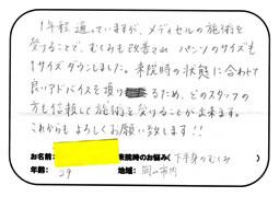岡山市内にお住いのKさん(29歳) 「下半身のむくみでお悩みのKさん 」